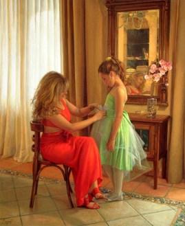 Chari con su hija